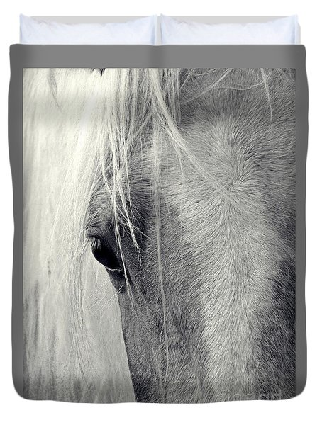 Duvet Cover featuring the photograph Equine Study by Laurinda Bowling