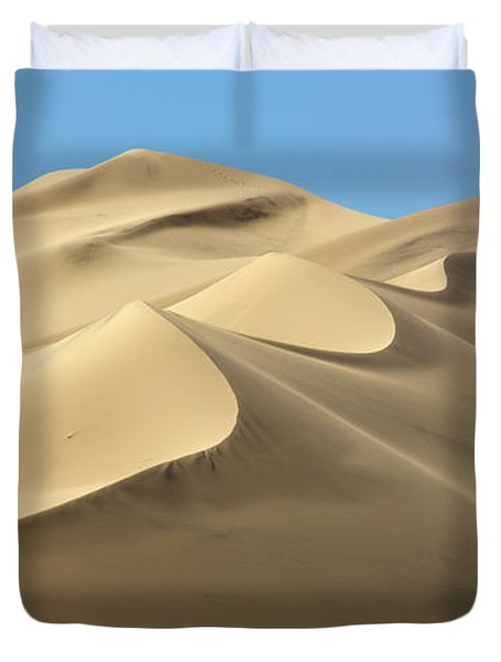 Eureka Dunes In Death Valley  Duvet Cover