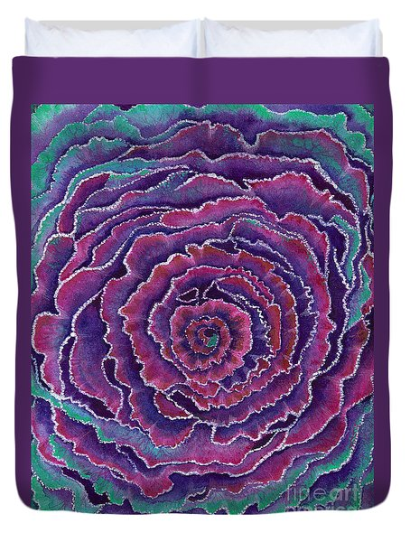 Eye Of The Storm Duvet Cover by Nan Wright