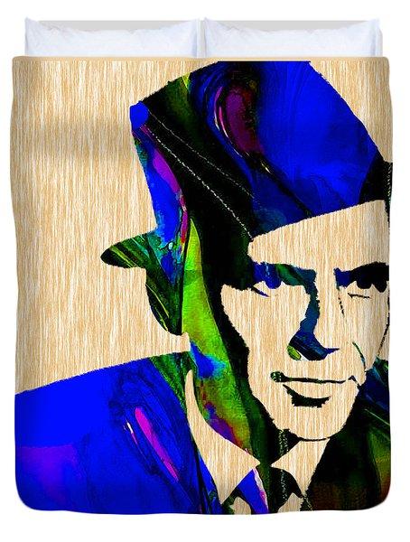 Frank Sinatra Painting Duvet Cover