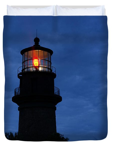 Gay Head Lighthouse Duvet Cover by John Greim