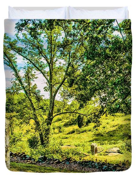 Gettysburg Battleground Duvet Cover by Bob and Nadine Johnston