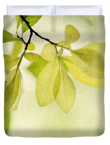 Green Foliage Series Duvet Cover by Priska Wettstein