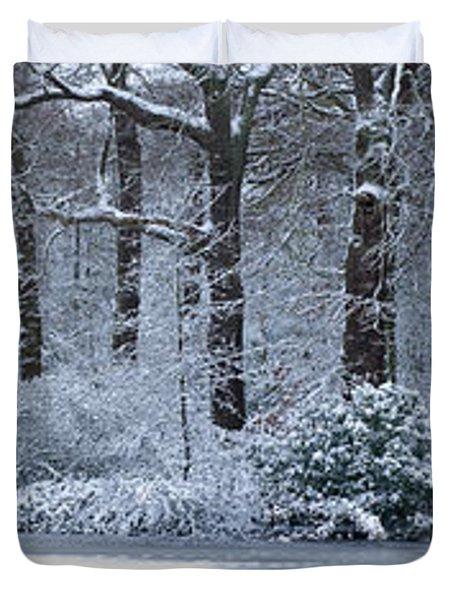 Hampstead Heath In Winter, North Duvet Cover
