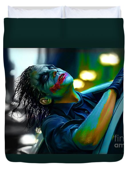 Heath Ledger Duvet Cover by Marvin Blaine