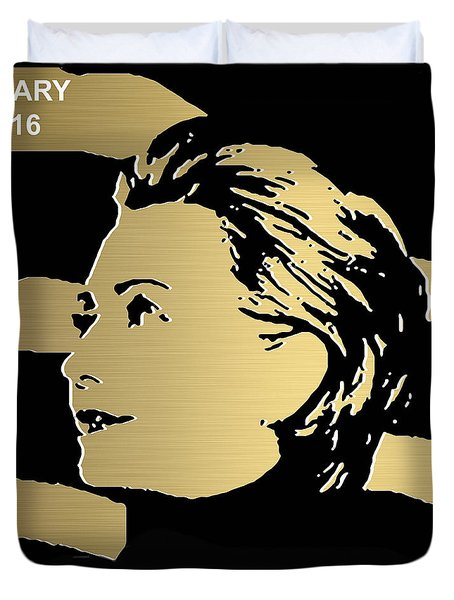 Hillary Clinton Gold Series Duvet Cover