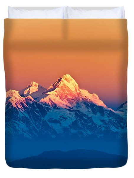 Himalayan Mountains View From Mt. Shivapuri Duvet Cover