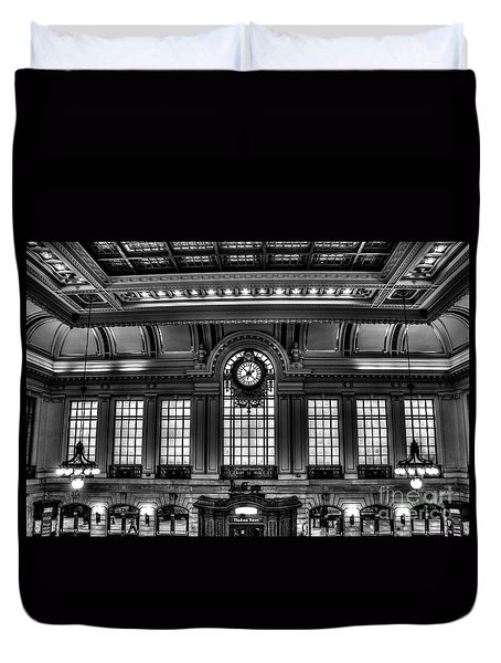 Hoboken Terminal Duvet Cover