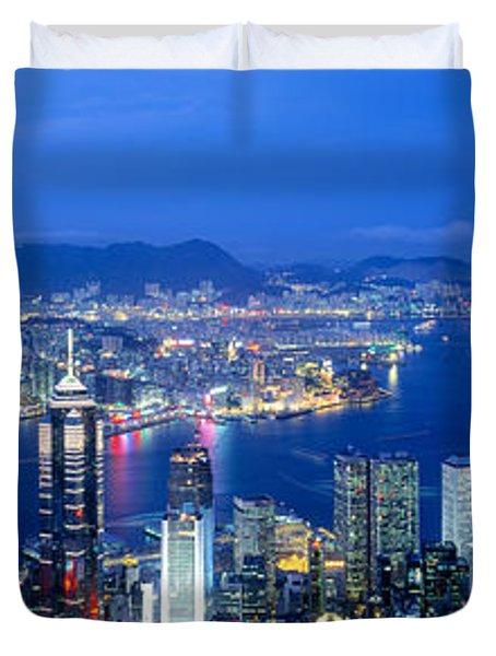 Hong Kong China Duvet Cover by Panoramic Images