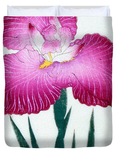 Japanese Flower Duvet Cover by Japanese School
