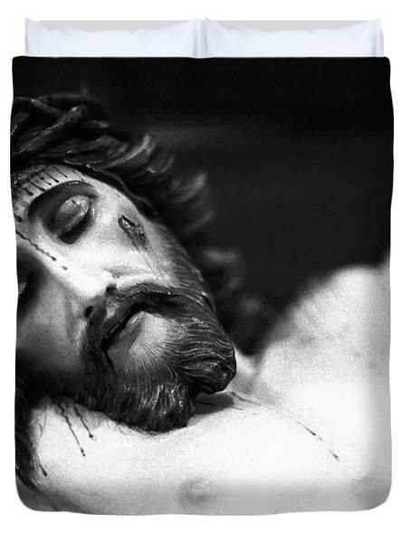 Jesus On The Cross Duvet Cover by Gaspar Avila