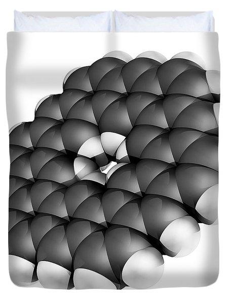 Kekulene Hydrocarbon Molecule Duvet Cover