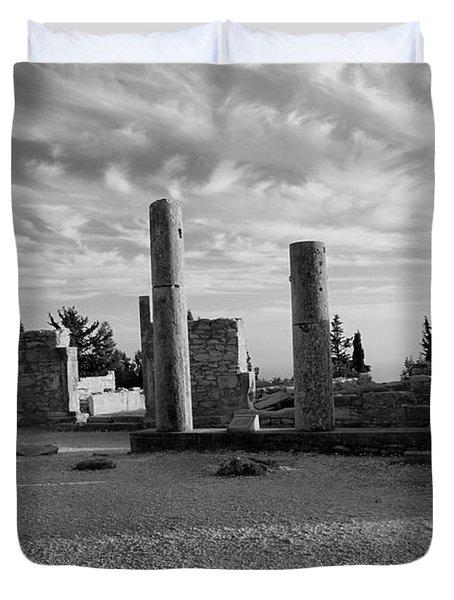 Kourion-temple Of Apollo Duvet Cover by Augusta Stylianou