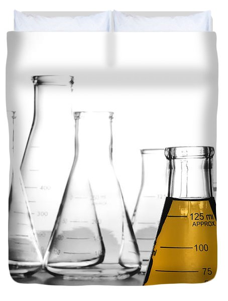 Laboratory Equipment In Science Research Lab Duvet Cover by Olivier Le Queinec