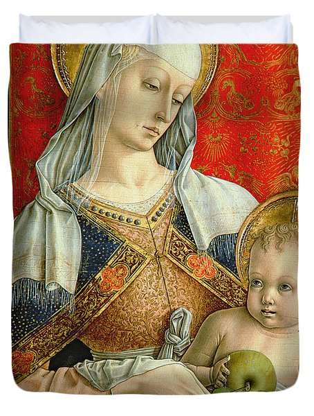 Madonna And Child Duvet Cover by Carlo Crivelli