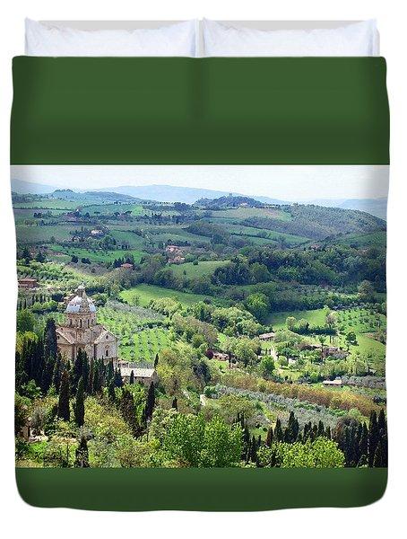 Madonna Di San Biagio Duvet Cover