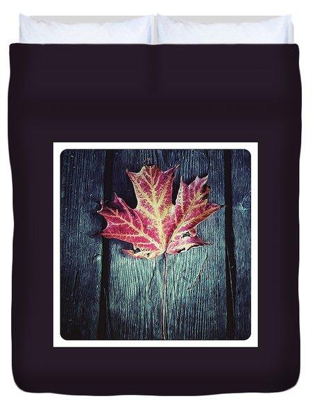 Maple Leaf Duvet Cover by Natasha Marco