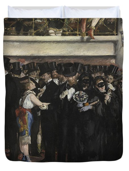 Masked Ball At The Opera Duvet Cover by Edouard Manet