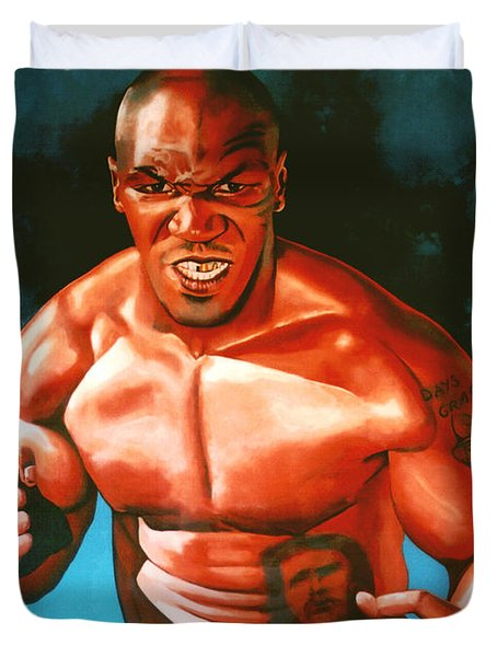 Mike Tyson Duvet Cover by Paul Meijering