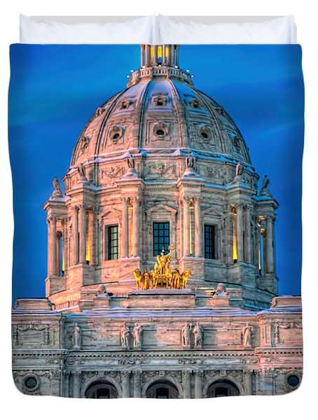 Minnesota State Capitol St Paul Duvet Cover by Amanda Stadther