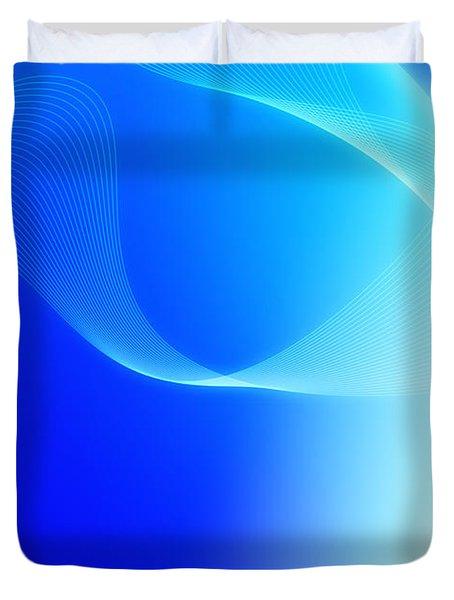 Modern Blue Abstract  Duvet Cover by Modern Art Prints
