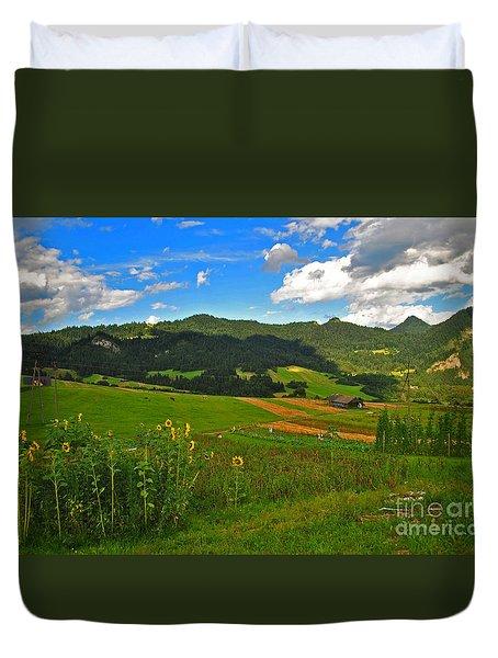 Rolling Green Hills Duvet Cover by Maja Sokolowska