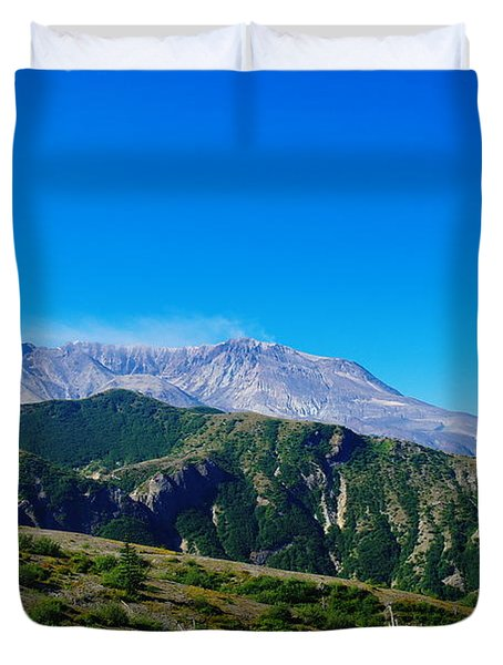 Mt St Helens Duvet Cover by Jeff Swan