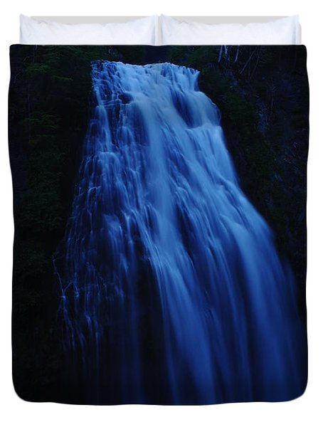 Narada Falls Duvet Cover by Jeff Swan
