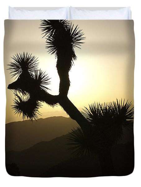 New Photographic Art Print For Sale Joshua Tree At Sunset Duvet Cover