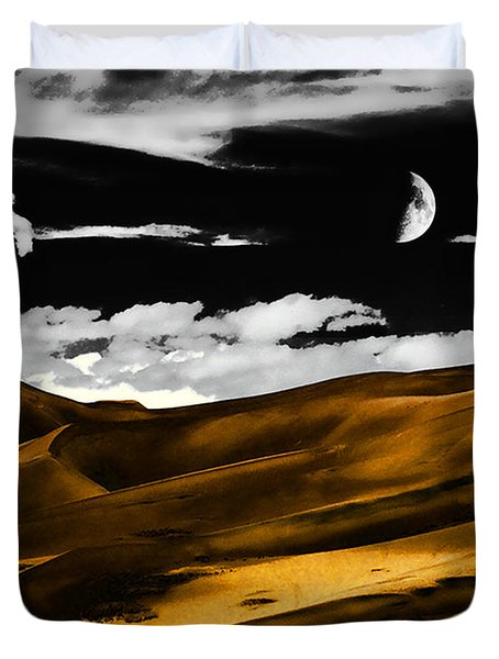 Night At The Great Sand Dunes Duvet Cover