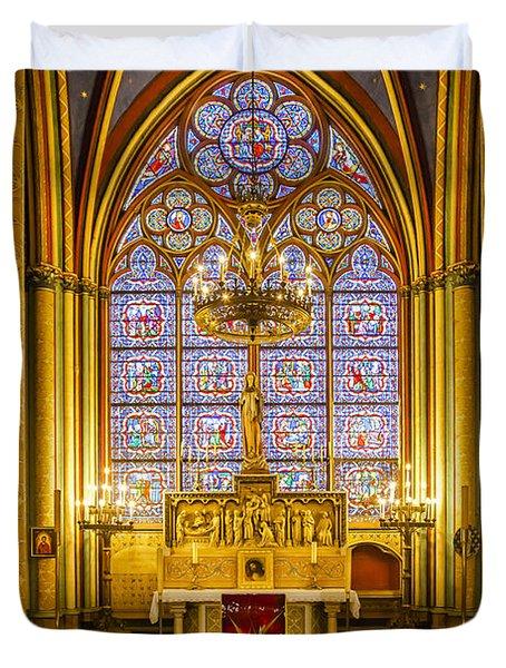 Notre Dame Chapel Duvet Cover