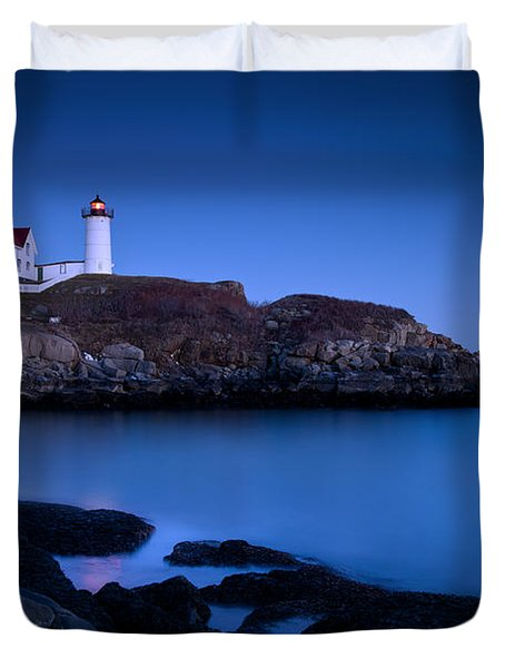 Duvet Cover featuring the photograph Nubble Lighthouse by Brian Jannsen