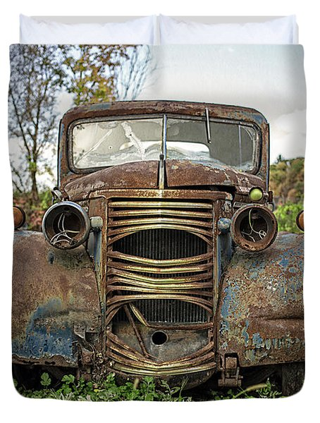 Old Junker Car Duvet Cover