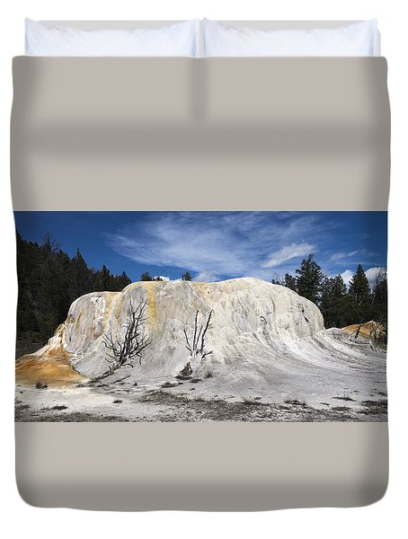 Orange Spring Mound Mammoth Hot Springs Yellowstone National Park Duvet Cover