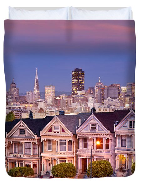 Duvet Cover featuring the photograph Painted Ladies by Brian Jannsen