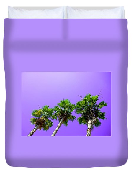 3 Palms Duvet Cover by J Anthony
