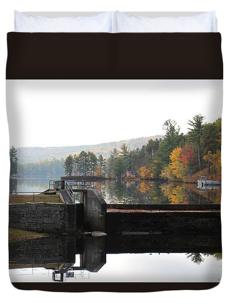 Pine River Pond  Duvet Cover