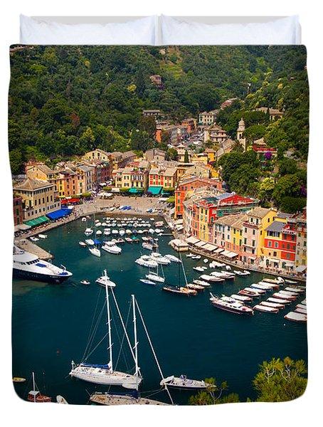 Duvet Cover featuring the photograph Portofino by Brian Jannsen