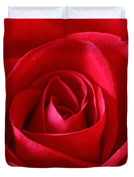 Red Rose Duvet Cover by Peter Lakomy