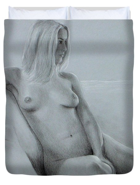 Duvet Cover featuring the painting Relaxed Afternoon by Joseph Ogle