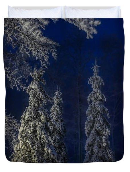 Rib Mountain State Park Snow Duvet Cover