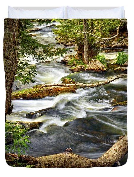 River Rapids Duvet Cover by Elena Elisseeva