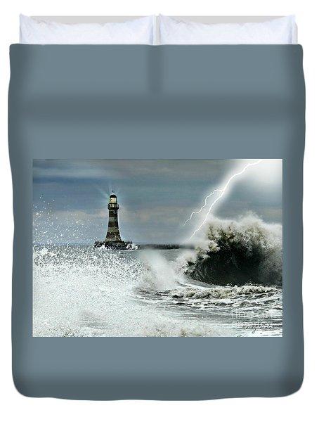 Roker Pier Sunderland Duvet Cover