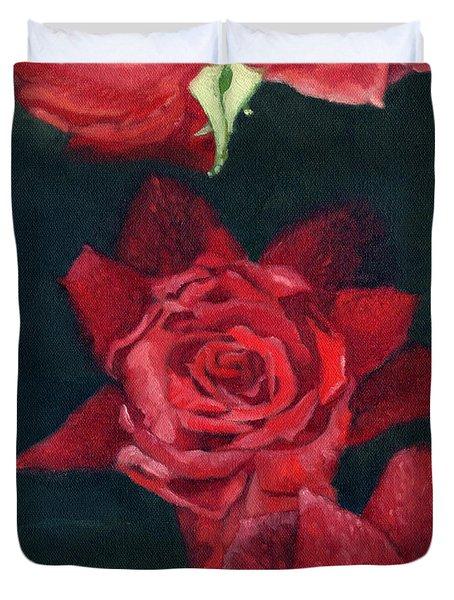 3 Roses Red Duvet Cover