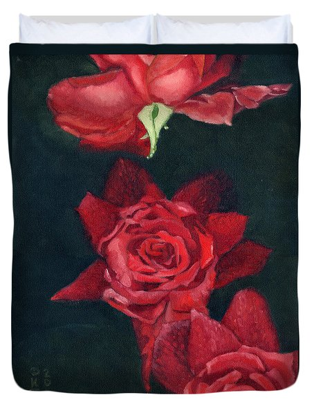 3 Roses Red Duvet Cover