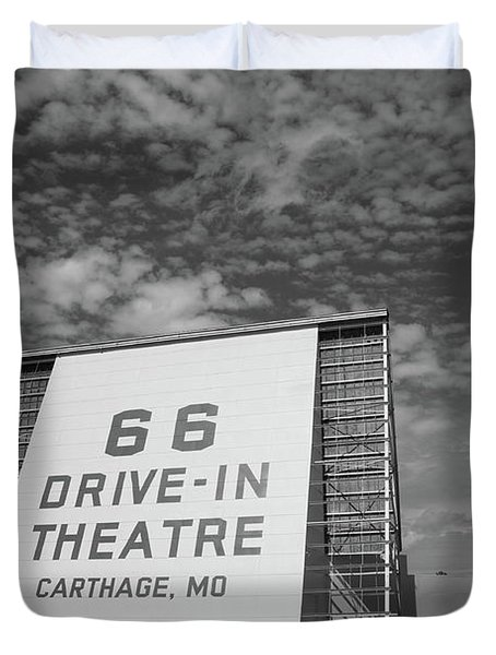 Route 66 Drive-in Theatre Duvet Cover by Frank Romeo