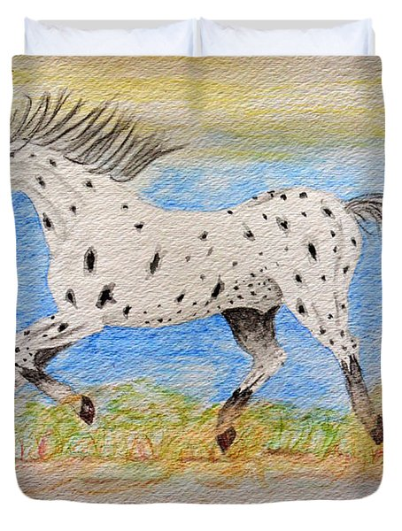 Running Free Duvet Cover