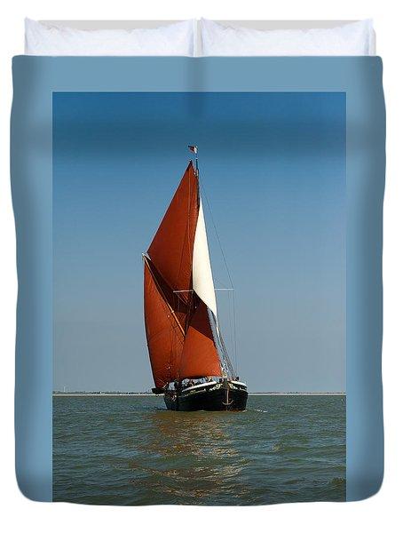 Sailing Barge Duvet Cover by Gary Eason