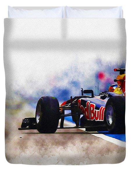 Sebastian Vettel Duvet Cover