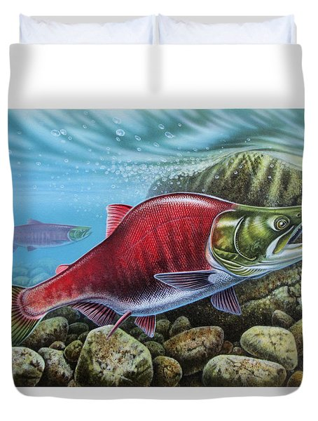 Sockeye Salmon Duvet Cover by JQ Licensing